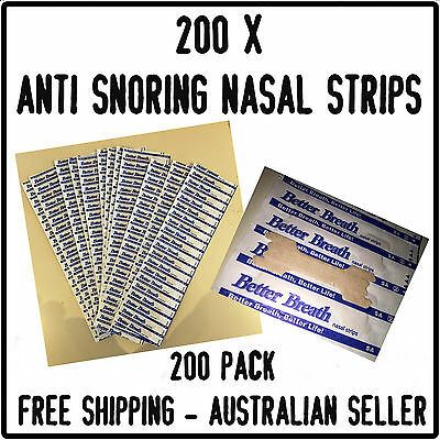 Stop Snoring Nasal Strips to Help Breathe Right Better Anti Snore X 200 LARGE