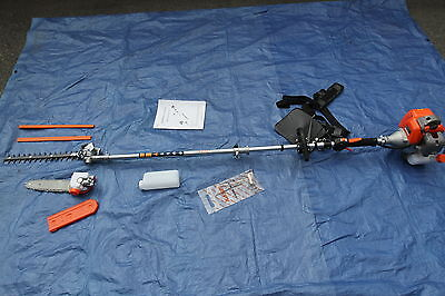 New Commercial KASEI gas 43cc pole Hedge trimmer,Chainsaw 7 feet EPA