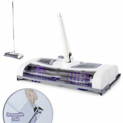 Electric Cordless Clean Sweep 2in1 Dry Mop Sweeper/Microfibre Pad/Battery power