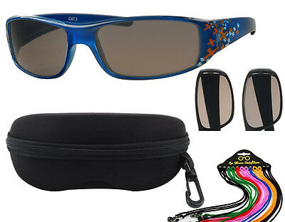 Dudes & Dudettes Boys Sunglasses Crosses with case and string Kids UV400 DD2037