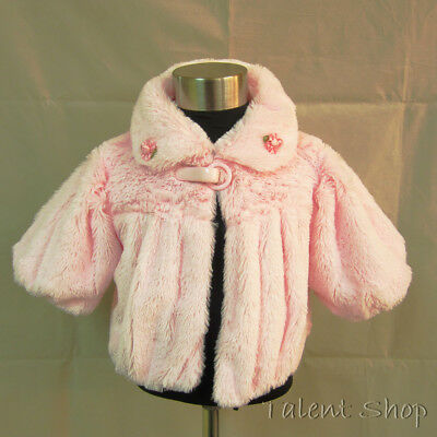 Baby Girls Pink Petticoat Jacket Wedding Occasion Casual Party Age 1-5 Years