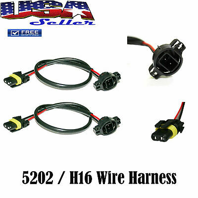 HID WIRE HARNESS Cable Ballast to Socket Plug 5202 2504 9009 ... Hid Wire Harness on
