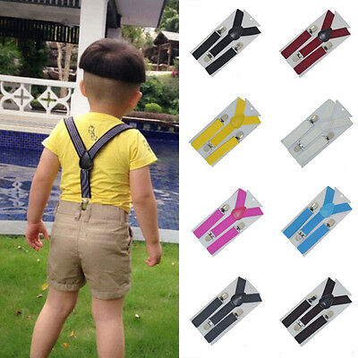 Newest Lovely Baby Boys Girls Clip-on Suspender Y-Back Child Elastic Suspenders