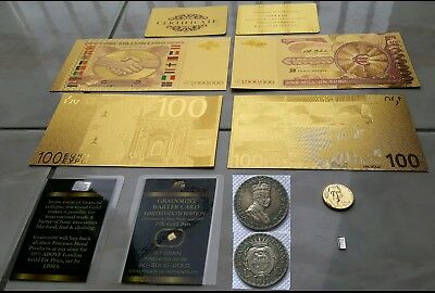 Lot Coins Banknote 1 Million of Dollars 24k and 100$+Ingots Gold 24kt and Silver