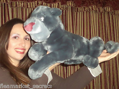 "Disney World Jungle Book Bagheera GRAY Panther 20"" Plush Stuffed Doll MOVIE TOY"