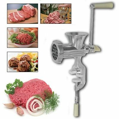 Heavy Duty Hand Operated Manual Kitchen Meat Mincer Beef Grinder Sausage Clamp