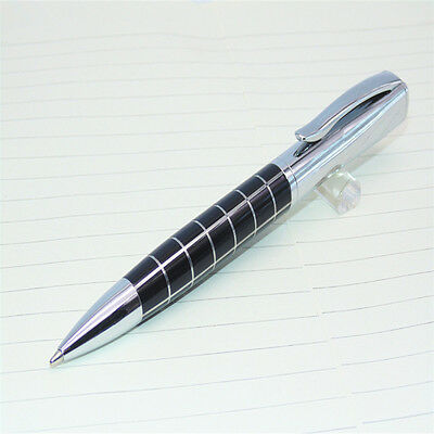 JINHAO 819 Black Silver Line Heavy Business medium Nib Ballpoint Pen New