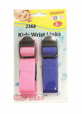 Child Safety Wrist Link Baby Toddler Harness Leash Adjustable Blue Pink Kids