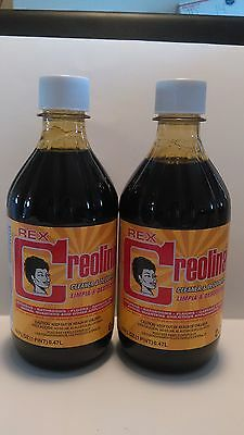 Cuban CREOLINA Cleaner Odor Remover Coal Tar Deodorant 16oz. Bottle 2-Pack