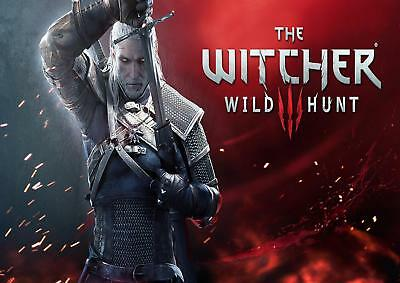 The Witcher Hunt 3  Poster A0 Size  With Free P&p Can Be Personalised