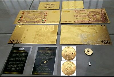 Lot Coins Banknotes USA 1 Million of Dollars 24kt e 100$ e Gold ingot and Silver
