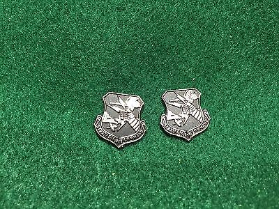 Lot of 2 1960's Vintage SAC Strategic Air Command Metal Emblems