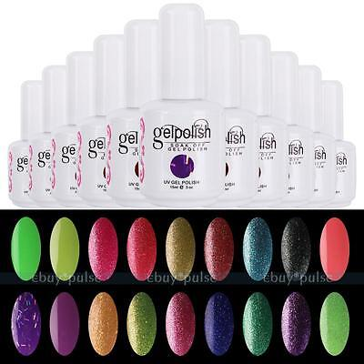 15ml Nail Art Soak Off Glitter Color UV LED Gel Polish Lamp Manicure Color HOT