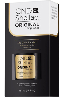 CND SHELLAC LARGE ORIGINAL TOP COAT ~ UV LED Gel Power Polish 0.5 oz 15 mL NIB