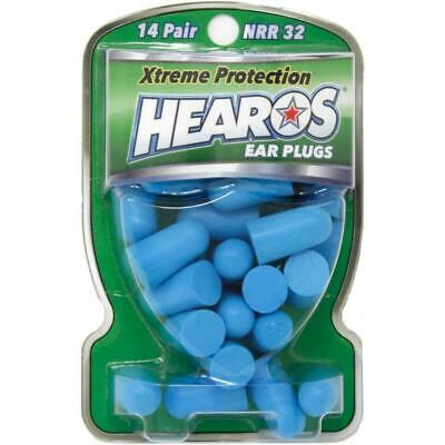 HEAROS Xtreme Pack Ear Plugs Filters Blue Foam 14 Pairs *NEW* Noise Reduction US