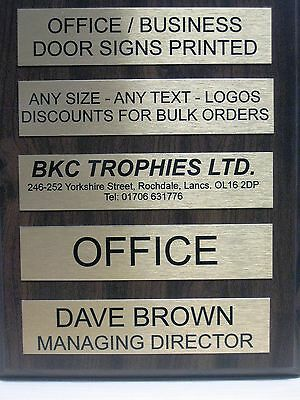 Qty 6 Personalised Door Signs 255x50mm Home Office Business 2 LINES OF TEXT