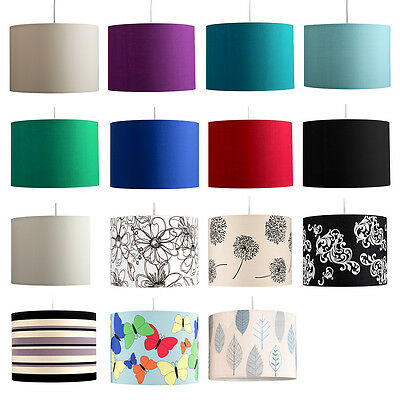 Cylinder Fabric Ceiling Pendant Light Shade Table Lampshade Lounge Lighting Lamp