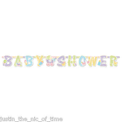 Baby Shower UNISEX Party Boy or Girl Decorations Jointed Letter Banner 2.1m