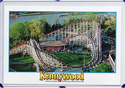 Kennywood Amusement Park-Aerial,the Thunderbolt Roller Coaster-Pittsburgh,pa