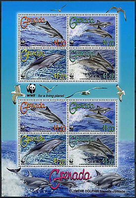 Grenada 2007 Dolphines WWF MNH M/S #A88445