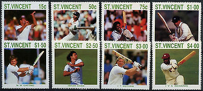 St. Vincent 1988 SG#1144-1151 Cricketers MNH Set #A88308