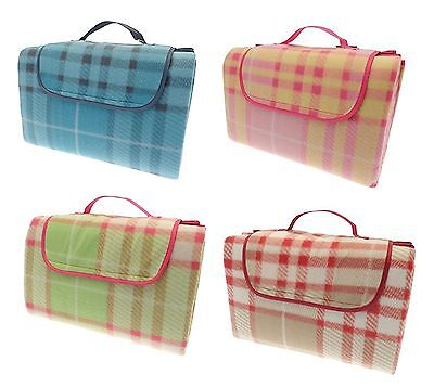 Country Club Luxury Family Size Picnic Blanket Rug Waterproof Backing 150x130cm