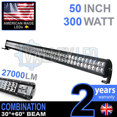 """50"""" 300w Cree LED Light Bar Combo IP68 XBD Driving Light Alloy Off Road 4WD Boat"""