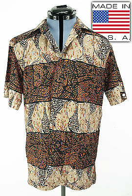 Vintage Mens McGregor 1960's Cotton Short Sleeve Shirt Medium
