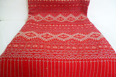 Ethnic Thai Embroidered Clothing Hand Weaving 100%Cotton Vintage Fabric Textiles