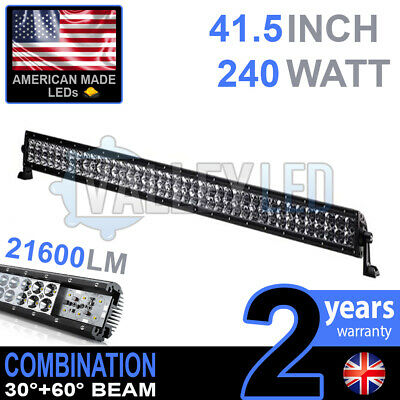 """40"""" 240w Cree LED Light Bar Combo IP68 XBD Driving Light Alloy Off Road 4WD Boat"""