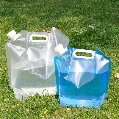 5L / 10L Portable Folding Lifting Emergency Camping Water Storage Carrier Bag