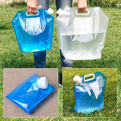 Portable Folding Water Carrier Storage Lifting Bag Camping Survival Travel