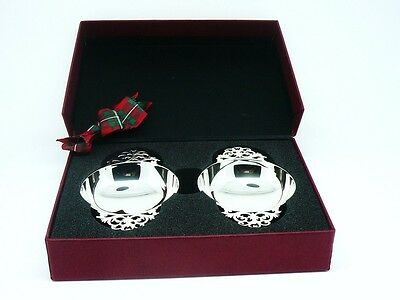 Pair Boxed Silver Quaichs, New Gift, Scottish Hallmarked