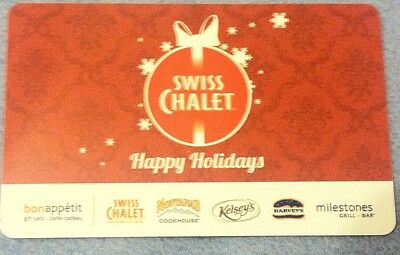 Swiss Chalet Canada Gift Card Happy Holidays Ornamemts Snowflakes No Value New
