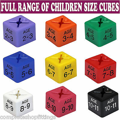 "50X Children/kids Clothes Age Size Cubes From ""age 1-2"" To ""age 13-14"" And Month"