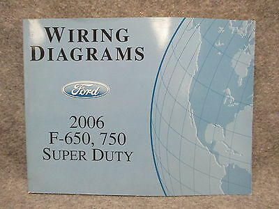 2006 ford f650 f750 trucks factory wiring diagrams manual • cad 2006 ford f 650 750 super duty wiring diagrams manual guide book 25044
