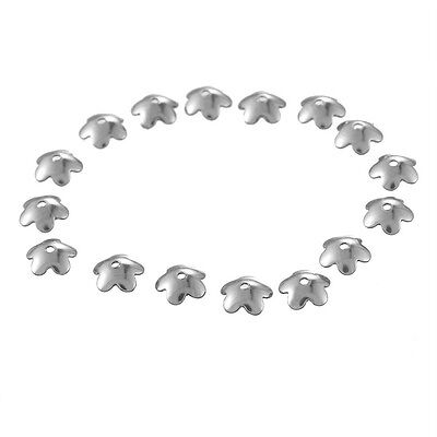 100PCs Stainless Steel Beads Caps Jewelry Findings DIY 6x2mm