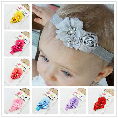 Infant Toddler Baby Flower Headband Newborn Hair Band Kids Hair Accessories lot