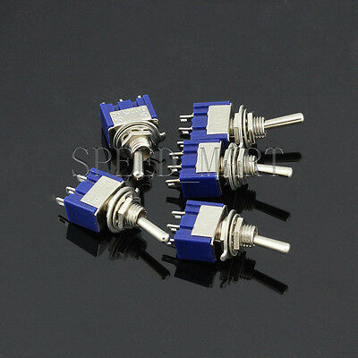 5 PCS Mini Slide Toggle Switch Switches 6A 125VAC 3 Pins SPDT ON-OFF-ON MTS-103