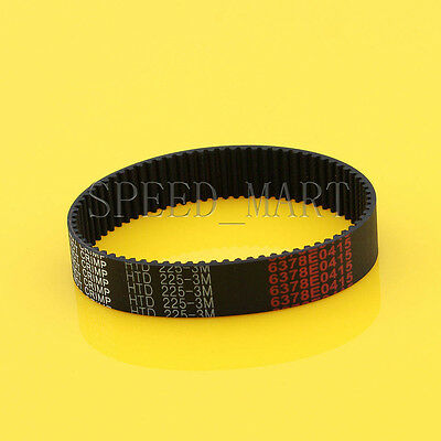 225-3M HTD 3mm Timing Belt 75 Tooth Cogged Rubber Geared 15mm Wide CNC Drives
