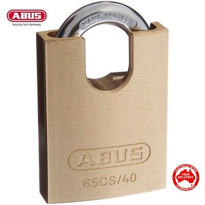 ABUS Padlock 40mm -KEYED ALIKE Brass Bodied Padlocks-Concealed Shackle-FREE POST