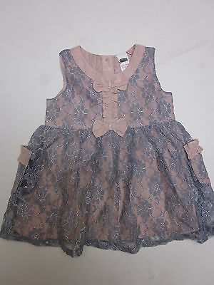 Baby girls dress party lace ex NEXT baby 1 3 6 9 12 18 months *BARGAIN* **NEW