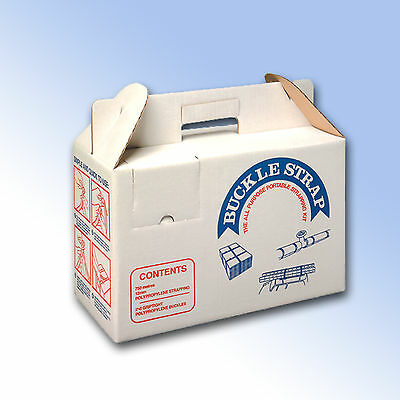 Boxed Hand Strapping / Banding and Buckle Kit - 600m strapping and 250 buckles