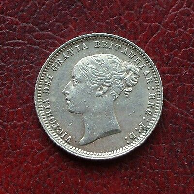Victoria 1872 die No.45 silver sixpence