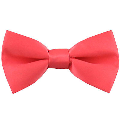 New KID'S BOY'S 100% Polyester Pre-tied Bow tie only Coral party formal wedding