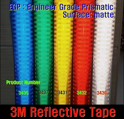L:10'/3M TM REFLECTIVE Tape/Sheet/High Intensity Grade/Vinyl/Adhesive/ROLL/LONG/