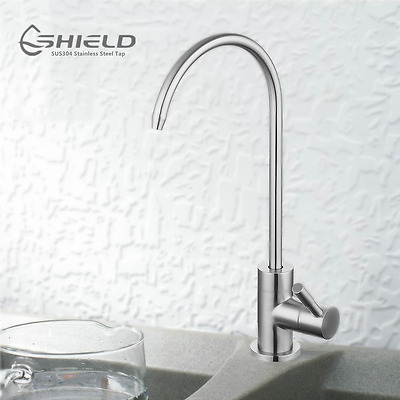 Premium SUS304 Stainless Steel Tap RO Drinking Water Filter Ceramic Disc Faucet