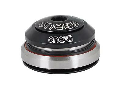 """One23 Headset 1 1/8""""-1.5 Tapered Threadless Intergrated Black"""