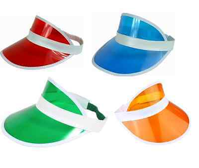 4 x POKER DEALER HAT VISOR - 4 COLOURS AVAILABLE FREE POSTAGE STAG HEN DO
