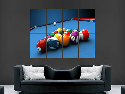 American Pool Table Balls  Wall Poster Art Picture Print Large Huge